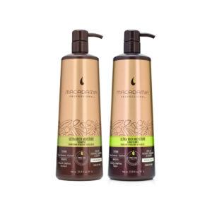 Cặp gội xả Macadamia siêu mượt Ultra Rich Moisture Shampoo 1000ml