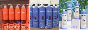 các mẫu dầu gội DIVA